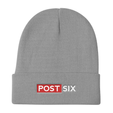 Load image into Gallery viewer, Post Six Logo Gray Beanie