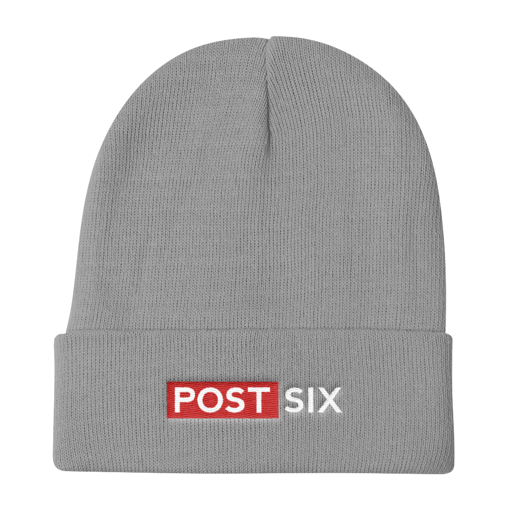 Post Six Logo Gray Beanie