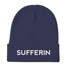 Load image into Gallery viewer, Sufferin Navy Blue Beanie