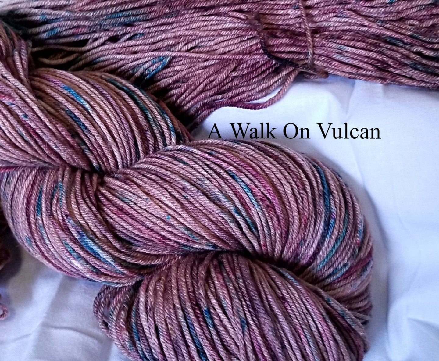 hand dyed fingering weigh,t A walk On Vulcan
