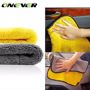 Onever 45x38cm High Quality Soft Microfiber Towel Car Cleaning Wash Clean Cloth Car Care Wax Polishing Detailing Towels