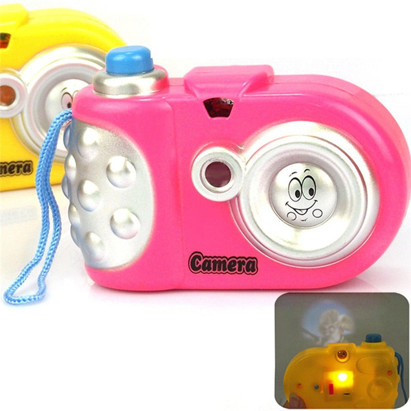Cute Kids Toys Cartoon Camera Study Toy Projection Camera Electronic Toys for Children Random Color