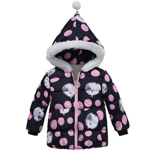 Boys Winter Jacket Baby Girls Jacket Kids Warm Outerwear Plus cotton Jacket  Fashion Spring Children's Clothing Girls Hoodie