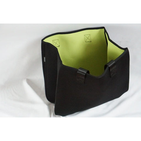 Neoprene Reversible Tote bag black/lime