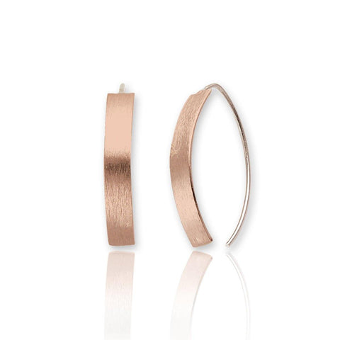 Anya Short Drop Earrings - Rose Gold