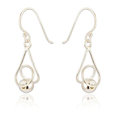 Abigail Drop Earrings - Small Silver