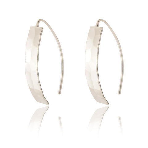 Anya Short Drop Earrings - Hammered Finish