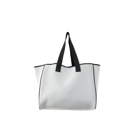 Neoprene Reversible Tote bag grey/blue