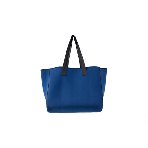 Neoprene Reversible Tote bag navy/orange