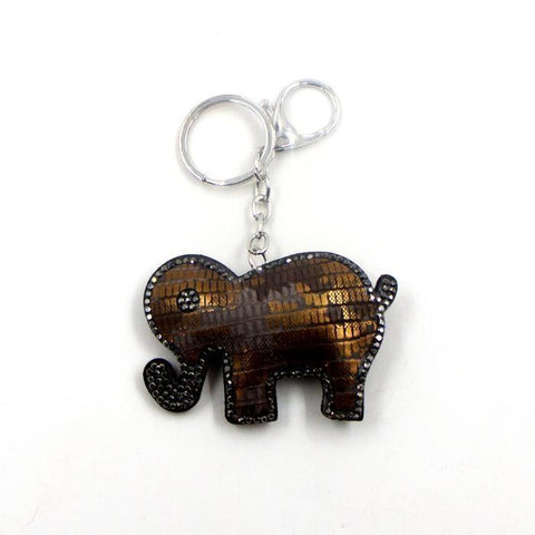 Special little diamante encrusted elephant key ring