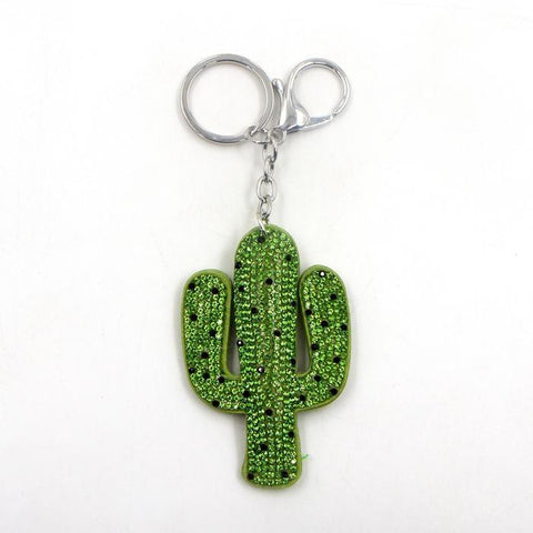 Quirky cactus key ring