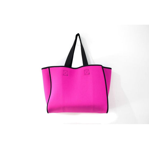 Neoprene Reversible Tote bag charcoal/magenta