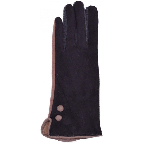 Multi Coloured Women's Faux Suede Gloves