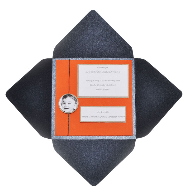 Invitation William Diy, Orange