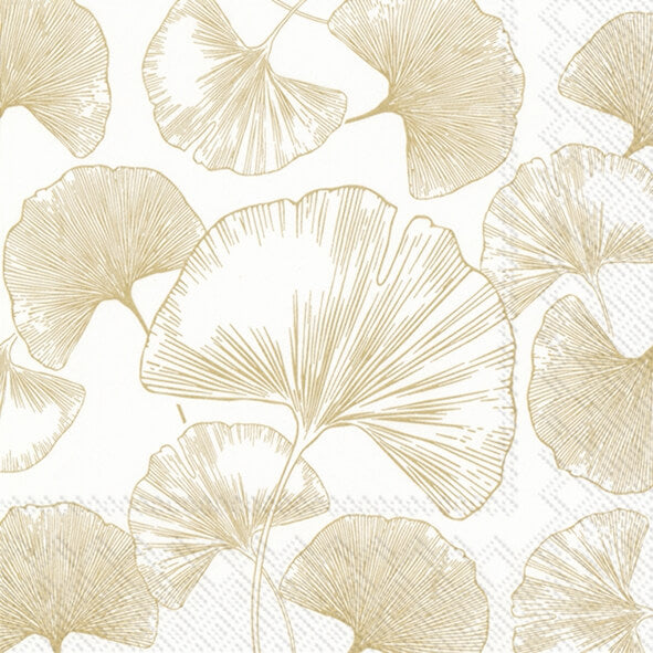 IHR Frokostserviet Golden Gingko Gold 33x33, 20 stk