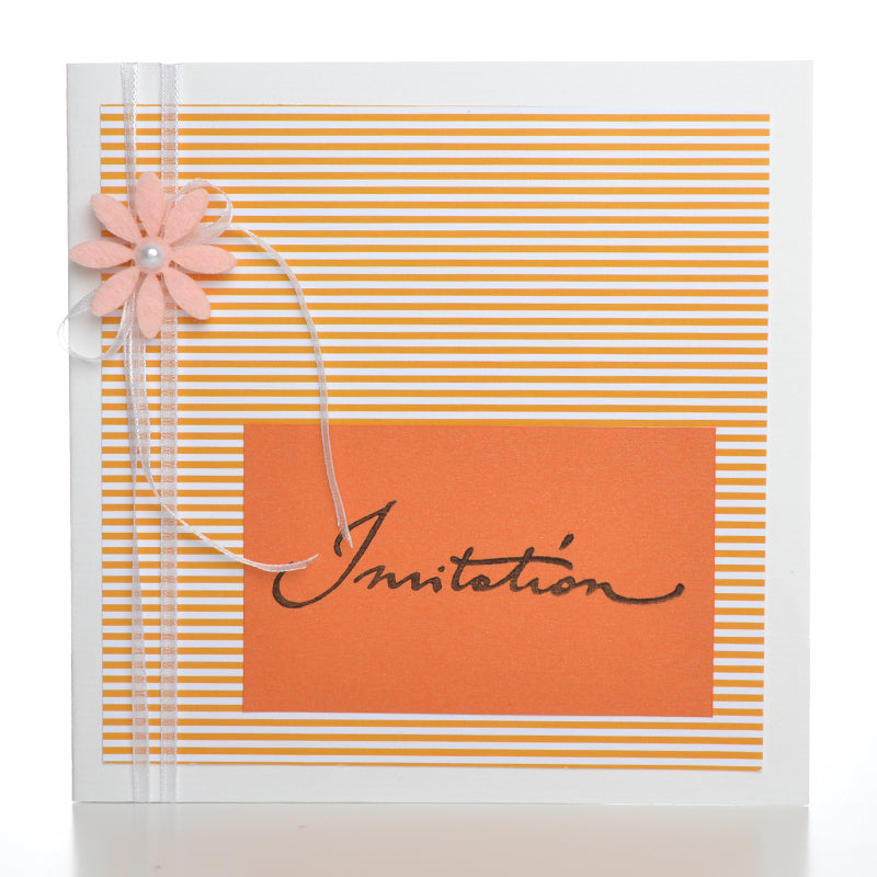 Invitation Lykke diy, Orange