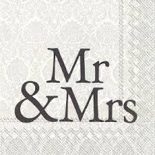 IHR frokostserviet Mr And Mrs 33x33, 20 stk