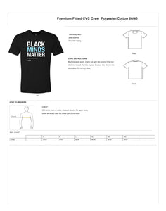Black Minds Matter, Unisex Black Crew Tee