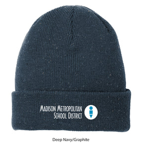 MMSD Logo, Speckled Beanie, Embroidered