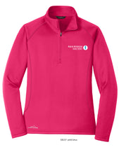 Load image into Gallery viewer, MMSD Logo, Ladies 1/2 Zip Fleece, Embroidered (Pink Lotus or Black)