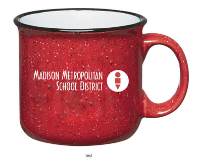MMSD Logo, Vintage Ceramic Campfire Mug (Red or Cobalt Blue)