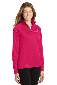 MMSD Logo, Women's 1/2 Zip Fleece, Embroidered (Pink Lotus or Black)
