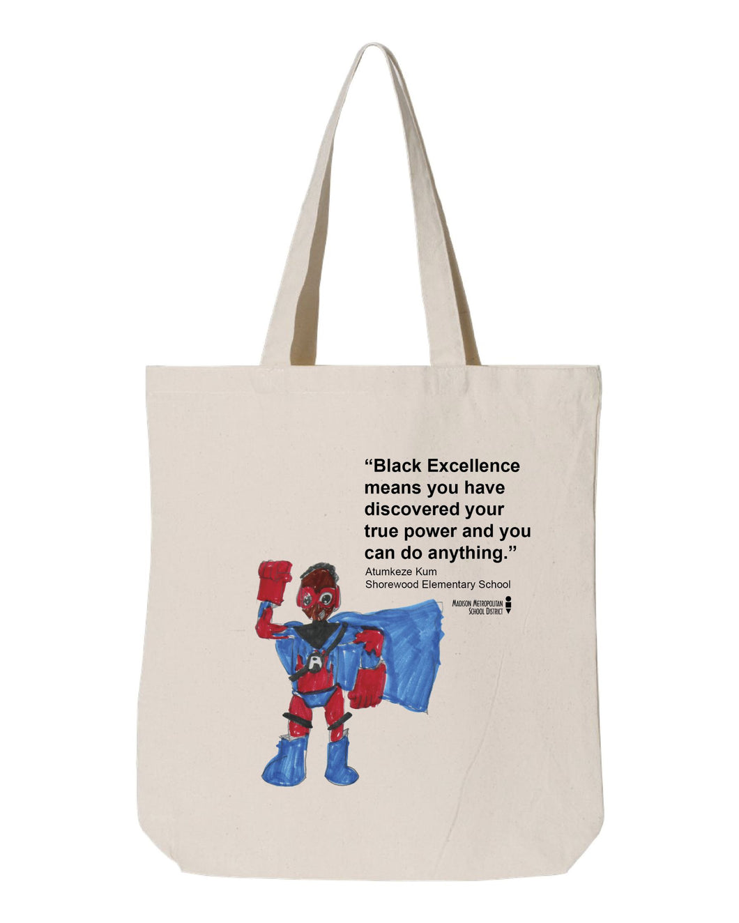 Black Excellence Super Hero Natural Tote
