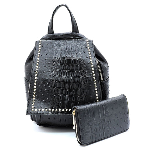 Crocodile Backpack Set - 2 Piece