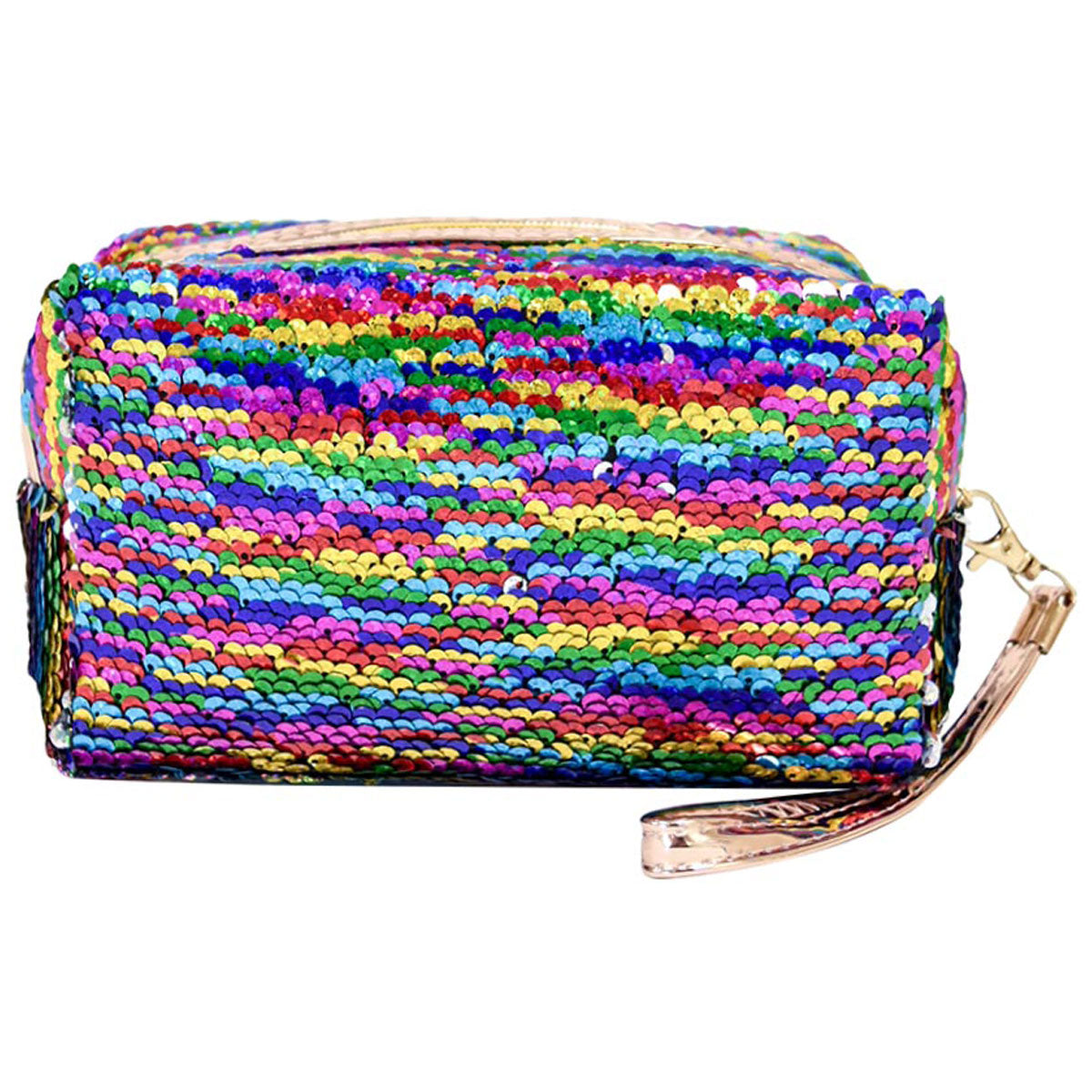 Sequin Cosmetic Bag - Rainbow