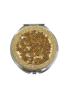 SEQUIN COMPACT MIRROR