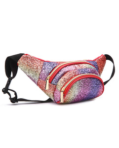 RAINBOW GLITTER FANNY - MULTICOLORED