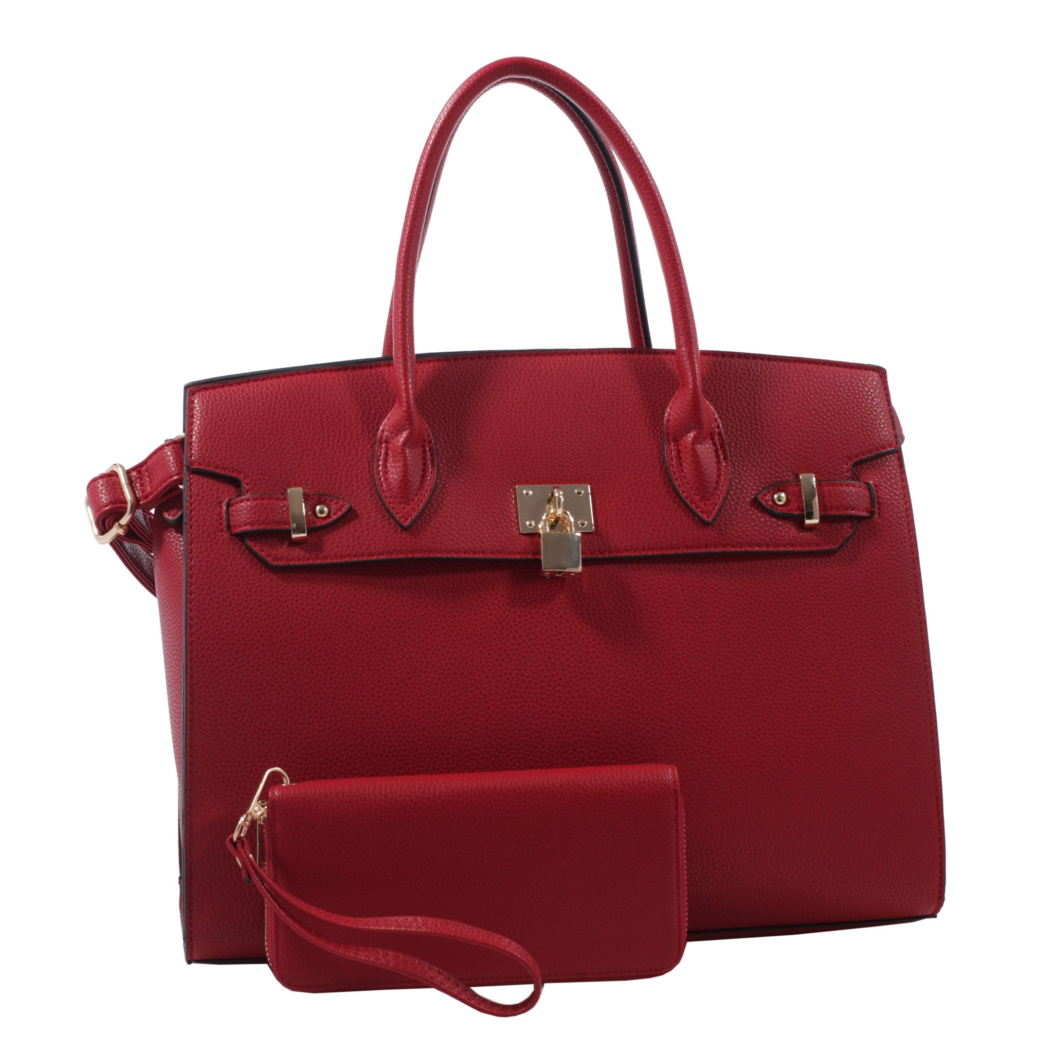 PADLOCK SATCHEL - RED
