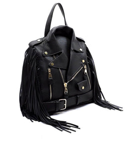 Biker Fringe Glory Backpack - black