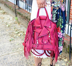 Biker Fringe Glory Backpack - Red