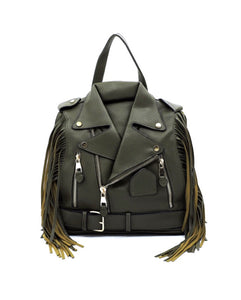 Biker Fringe Glory Backpack - Olive
