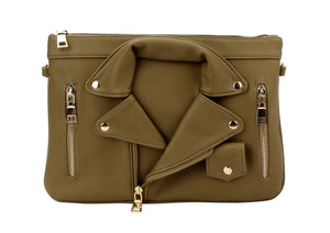 GRAB MY JACKET CLUTCH - OLIVE
