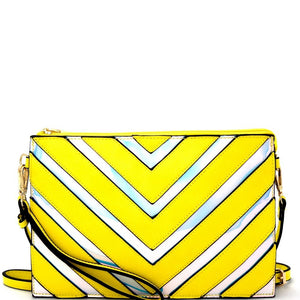 CHEVRON STOP CLUTCH - YELLOW