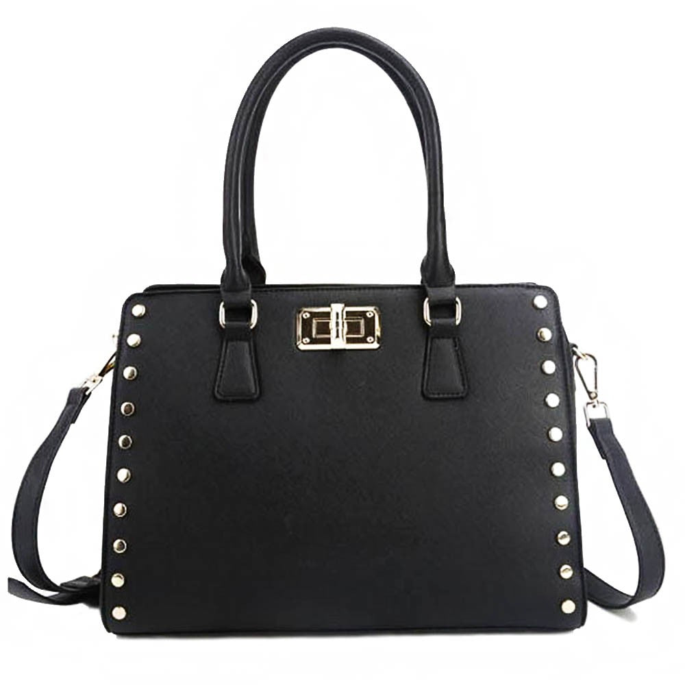 STUDDED OUT BAG - BLACK