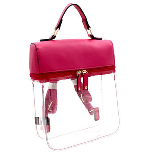 Clear The Air Backpack - Hot Pink
