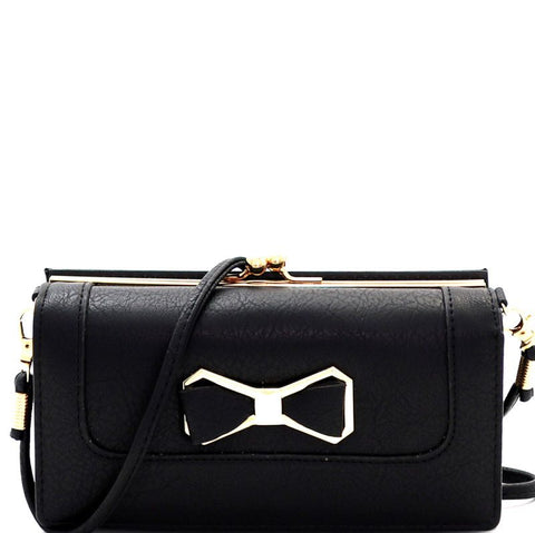 Bow Tie Crush Wallet - Black