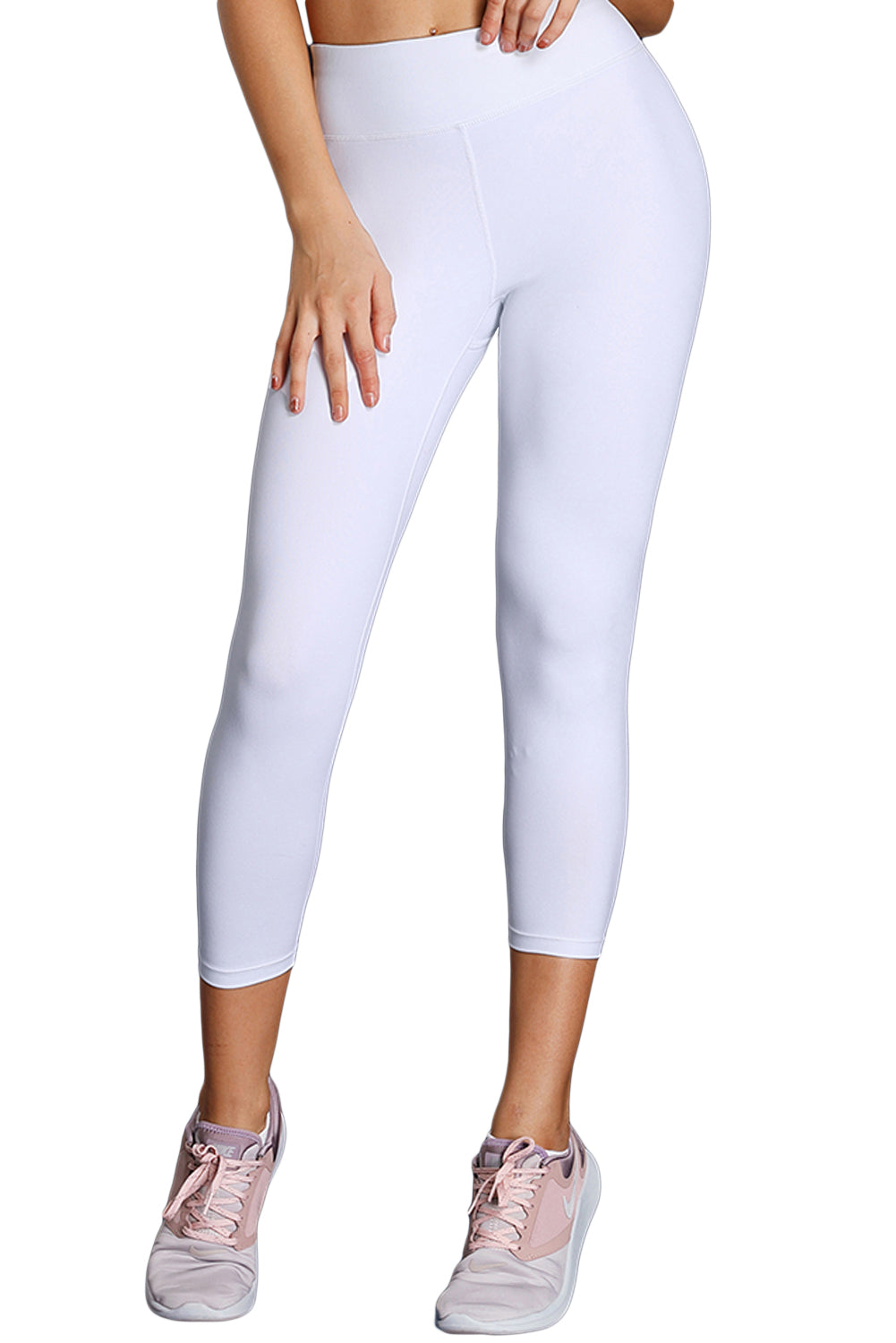 White High Waist Full LengthLeggings