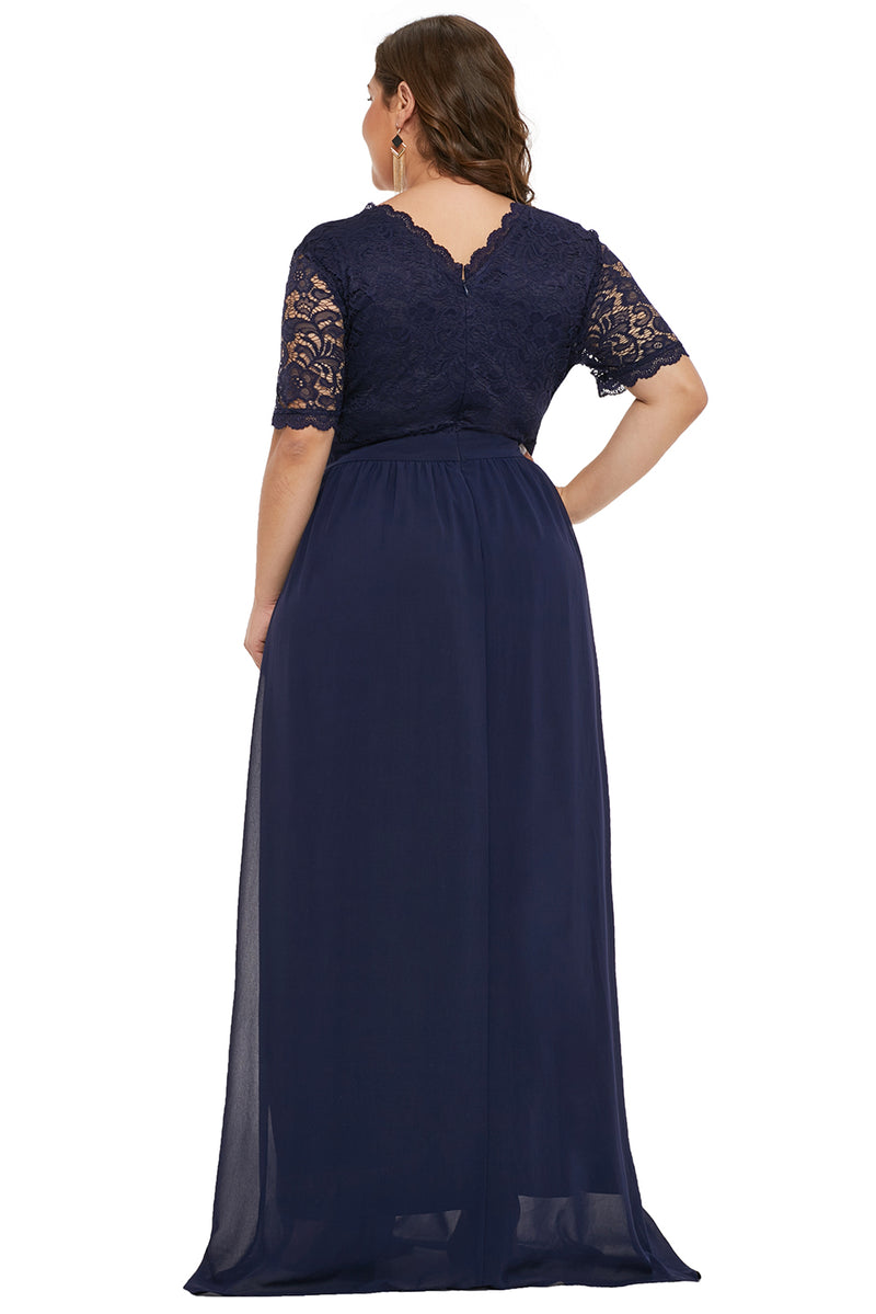 3b1e34fcf194a Blue Plus Size Chiffon Evening Party Maxi Dresses – FabWoo