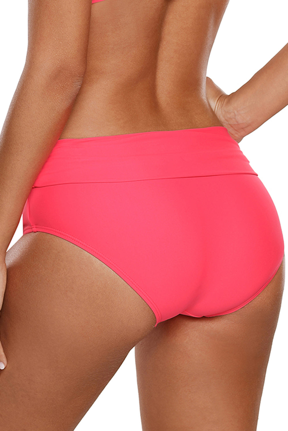 Rosy Tied Wide Waist Band Bikini Bottom