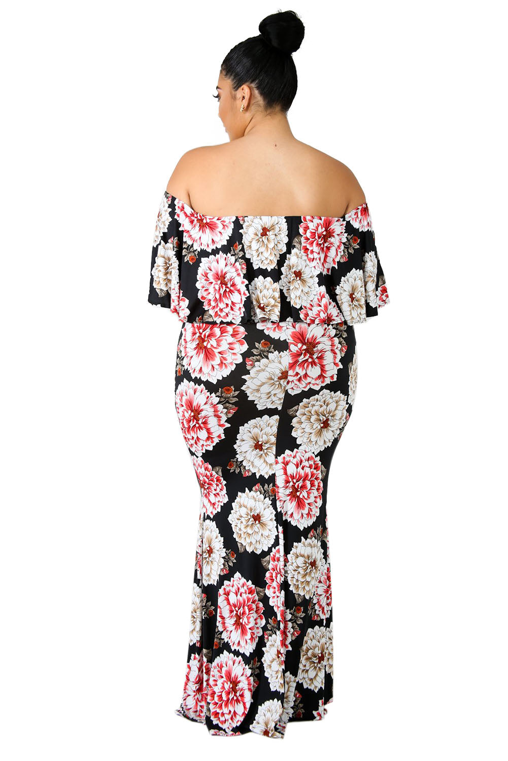 Sky Bloom Plus Size Maxi Dress