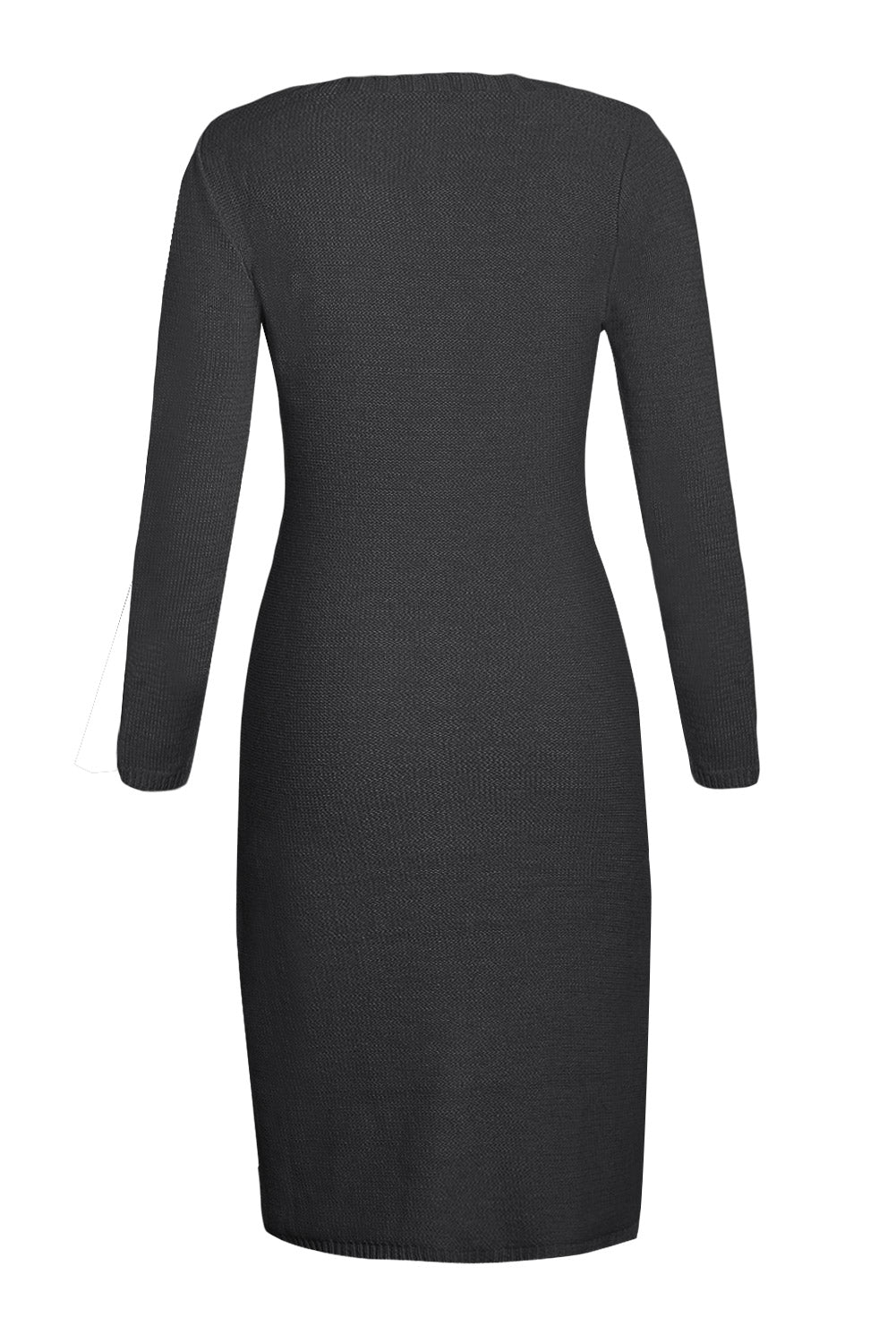Black Women's Hand Knitted Sweater Dress