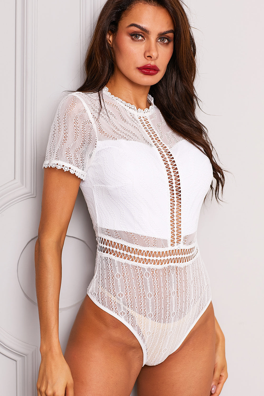 White Melted Heart Bodysuit