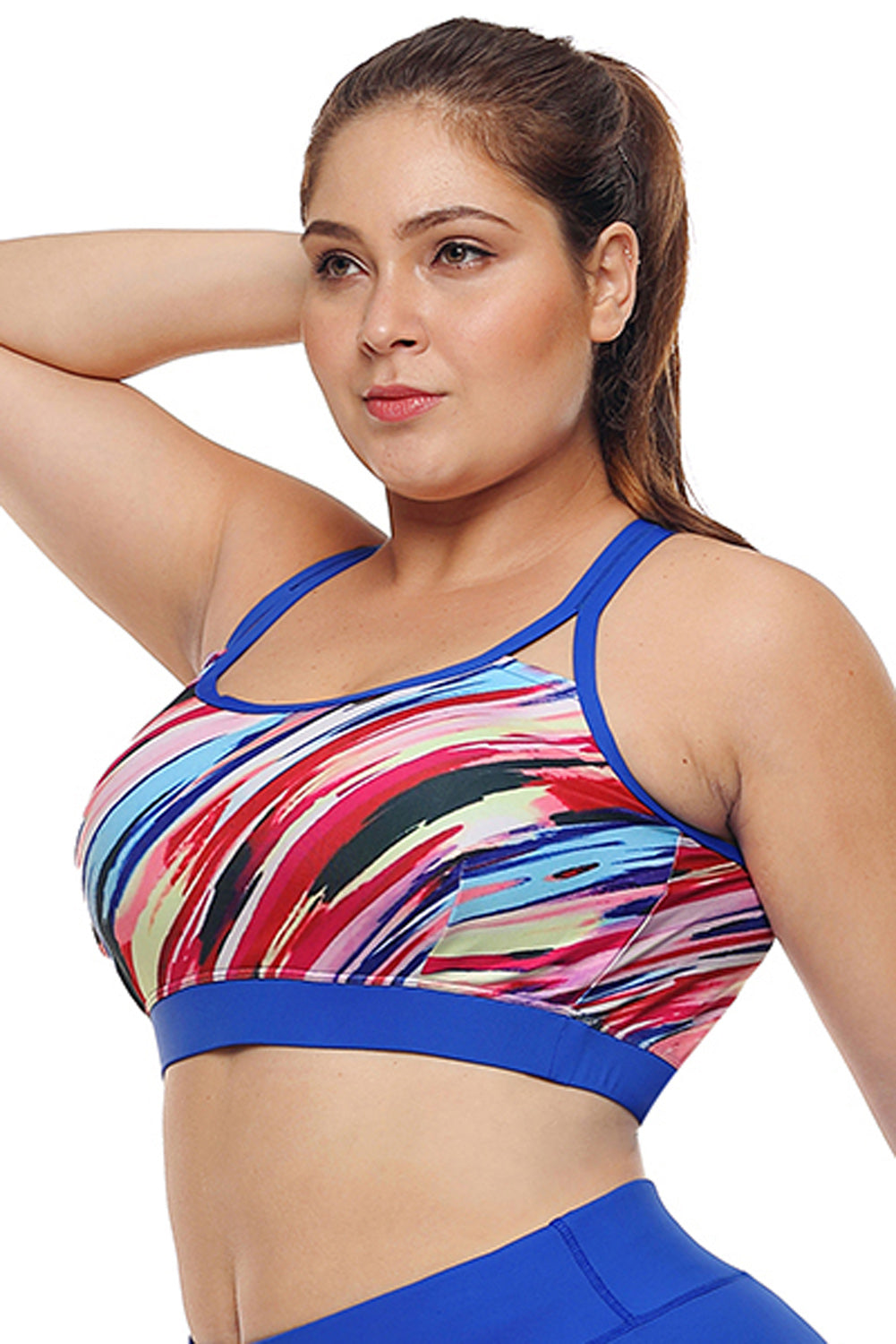 Multicolor Painting Print Sports Bra Top