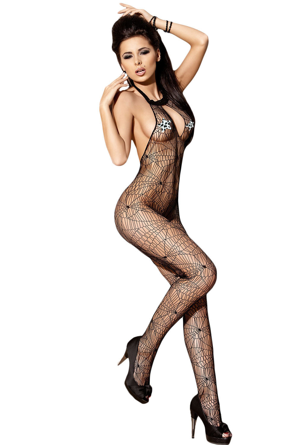 Sexy Spinnenweb Backless Body Stocking