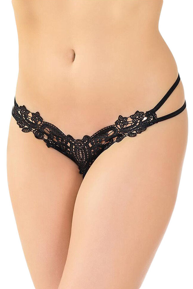 Sexy Naughty Crochet Strapy Thong
