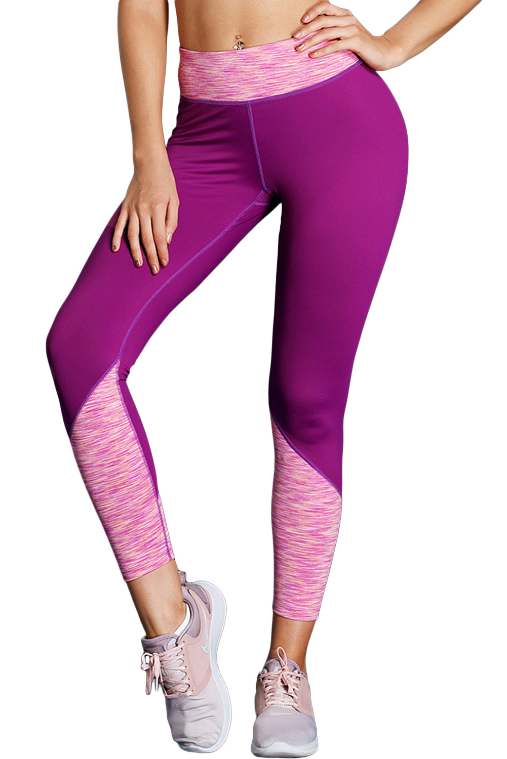 Purple Essential Active Capri Leggings